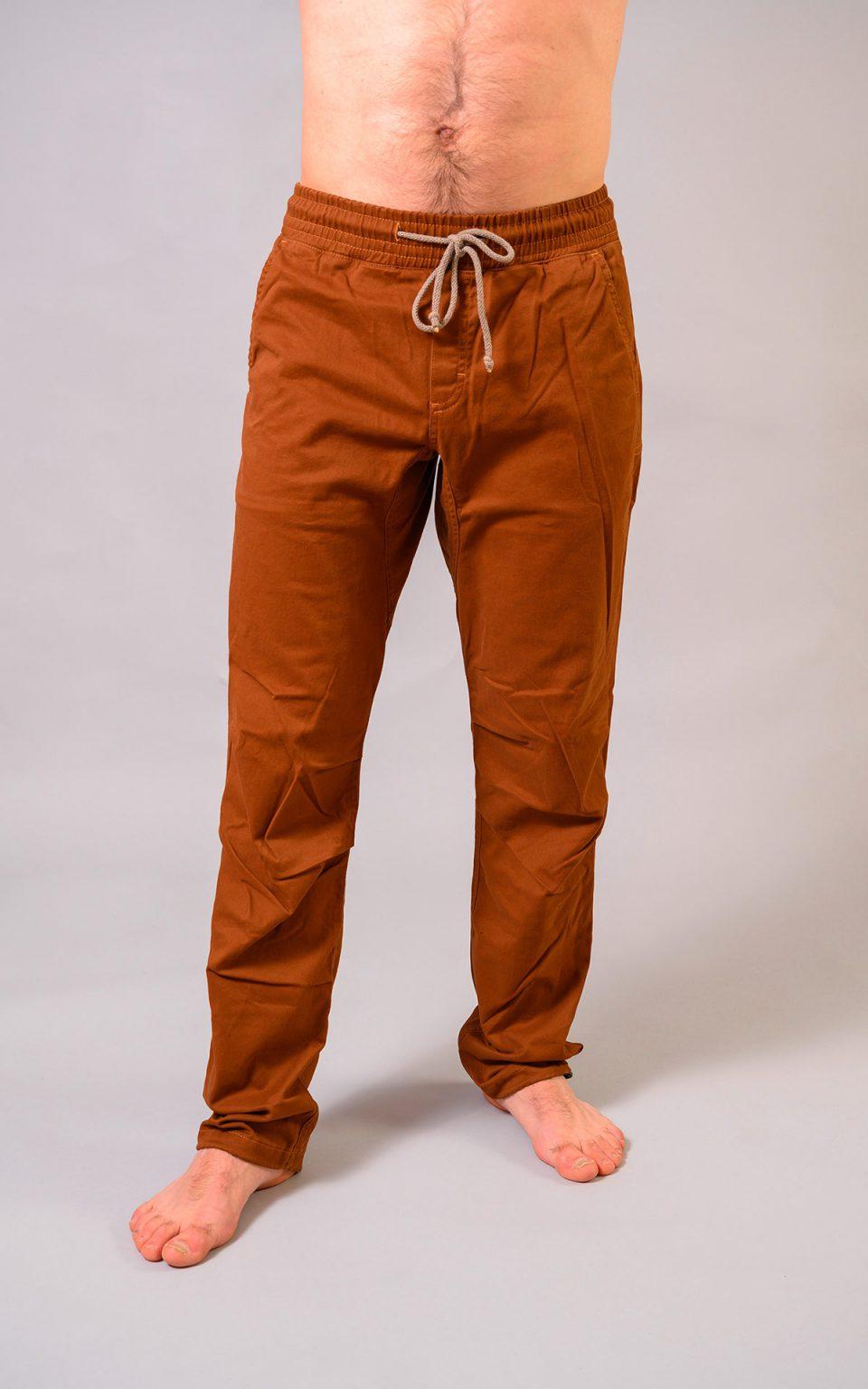 Cotton Crosscut pants- brown