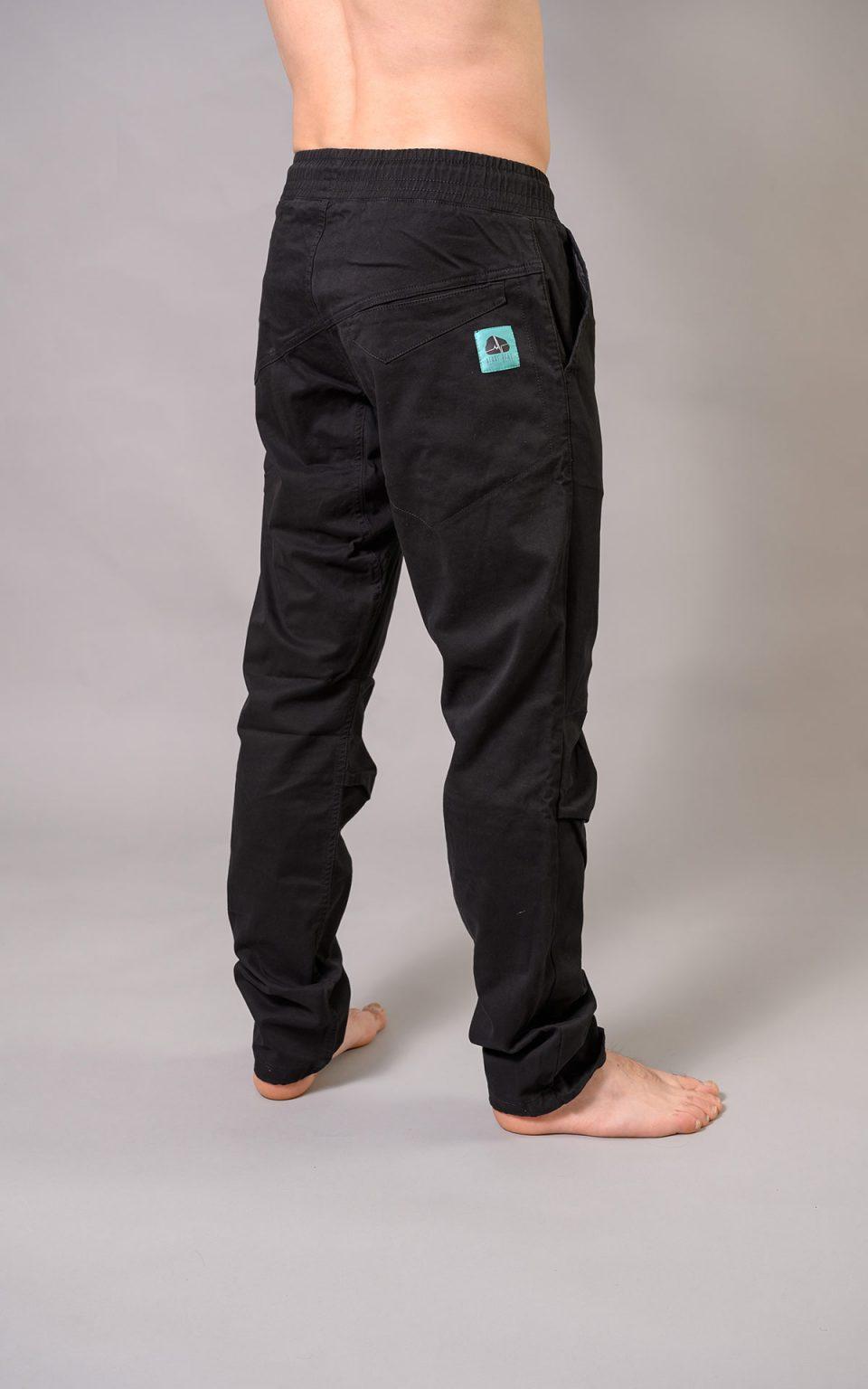 Cotton Crosscut pants -black