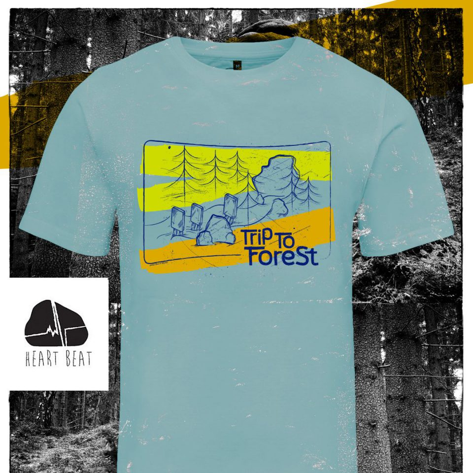 """""""Trip to forest"""" t-shirt - lime"""