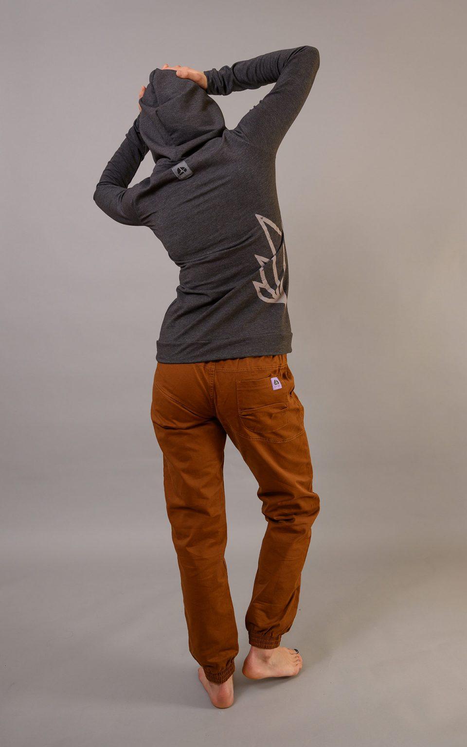Cotton Crosscut pants -  choclate brown