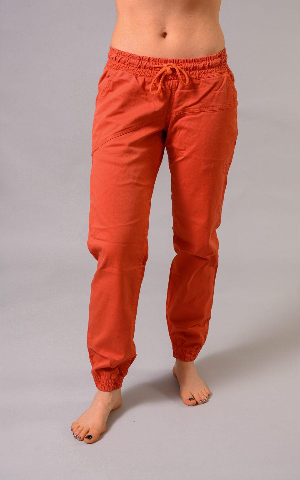 Cotton Crosscut pants - brick orange