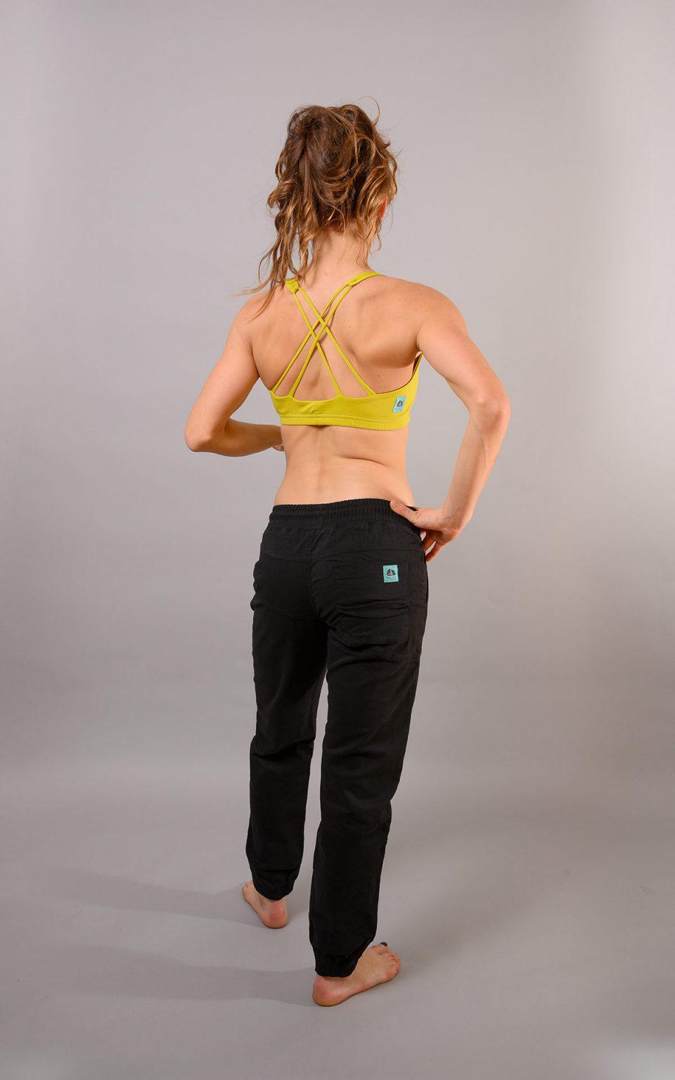 Double Cross bra top - lime