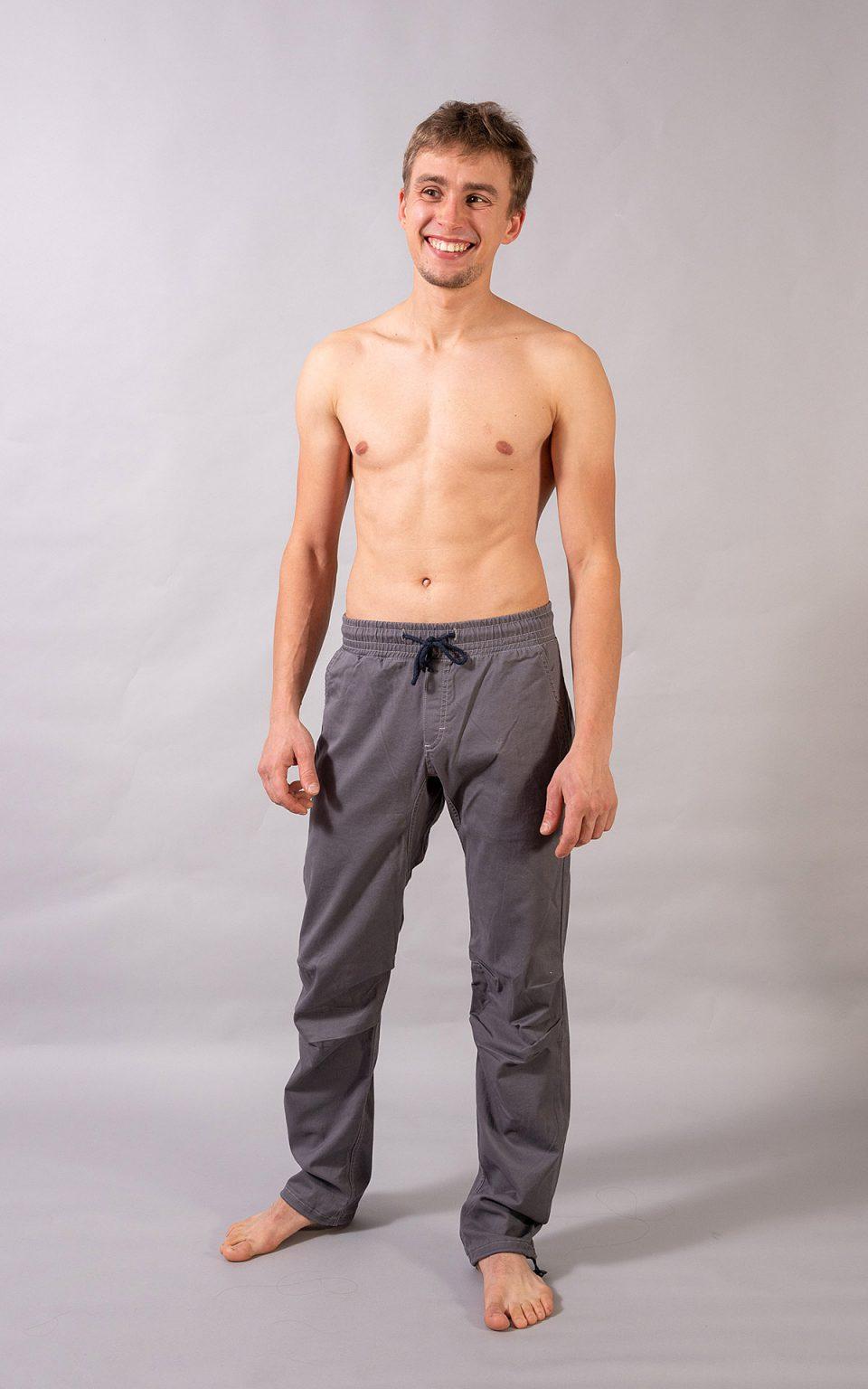 Cotton Crosscut pants- light grey