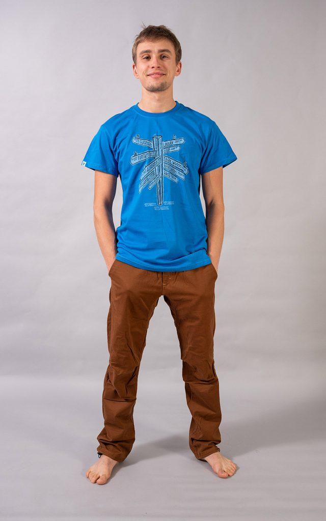 """""""Signpost"""" t-shirt - blue"""