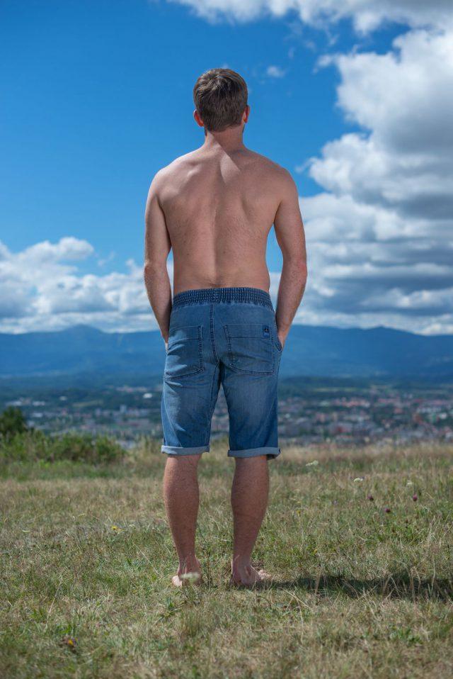 Classic shorts - light  blue jeans